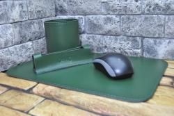 Набор кожаных изделий на письменный стол