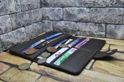 Стильный кожаный кошелек из натуральной кожи