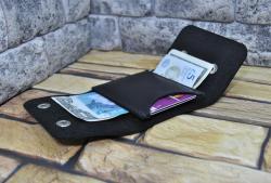 Карманный мини кошелек из натуральной кожи