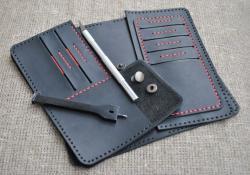 Оригинальное кожаное портмоне ручной работы